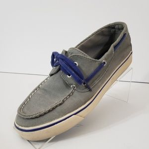 Sperry Top Sider Women's Gray Corduroy Boat Shoes